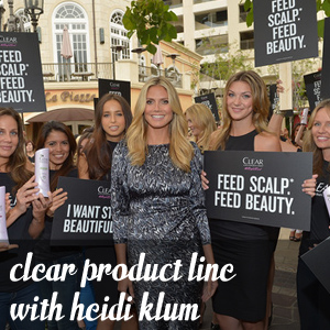 Clear Product Line with Heidi Klum
